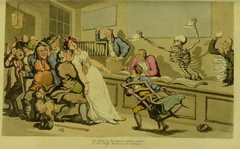 The Lottery, Scene from the English Dance of Death